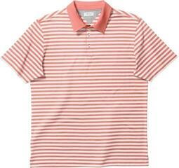 Adidas Adipure Premium Bold Stripe Mens Polo Shirt Sun Glow