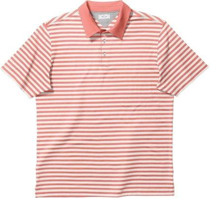 Adidas Adipure Premium Bold Stripe Férfi Golfpóló Sun Glow S