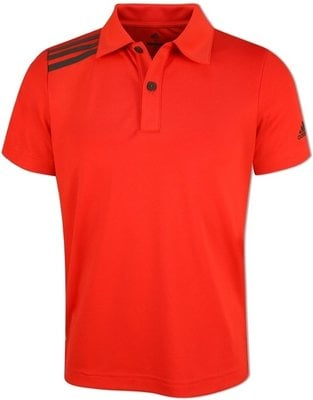 Adidas Boys 3-Stripes Solid Polo Hi-Res Red 9-10Y