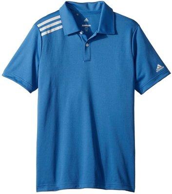 Adidas Boys 3-Stripes Solid Polo Trace Royal 9-10Y