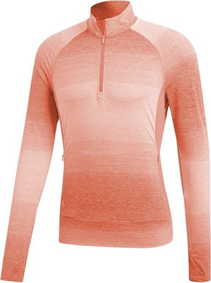 Adidas Rangewear 1/2 Zip Womens Sweater Chalk Coral M