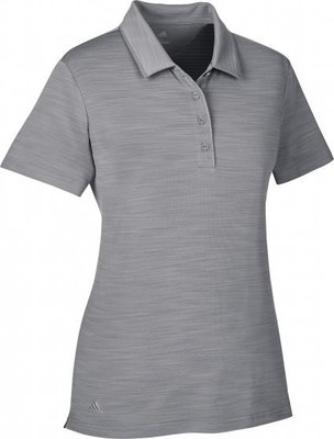Adidas Ultimate365 Short Sleeve Womens Polo Shirt Grey Three M