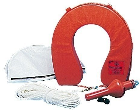 Osculati Horseshoe lifebuoy with white cover