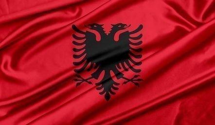 Lindemann Flag Albania 30x45 cm