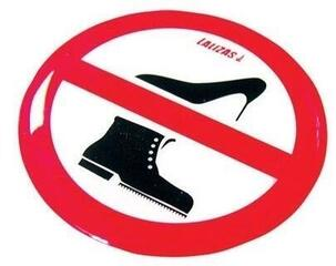 Lalizas Silicone Sticker 80mm - 'No Shoes'