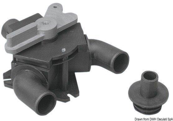 Osculati Strong Valve 25/38 mm Toaletă marină manuală