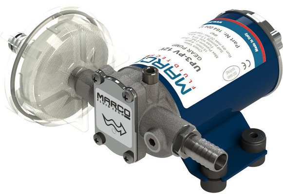 Marco UP3-PV PTFE Gear pump 15 l/min with check valve 12V