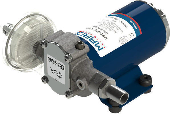 Marco UP6-PV PTFE Gear pump with check valve 26 l/min - 12V