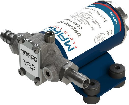 Marco UP2-PV PTFE Gear pump 10 l/min with check valve - 24V