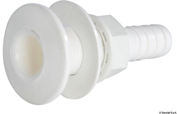 Osculati Seacock white plastic with hose adaptor 3/4''