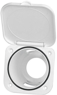 Nuova Rade Case for Shower Head, Square, withLid, 95x95mm White