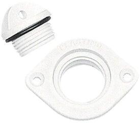 Nuova Rade Drain Socket with Captive Plug Oval White