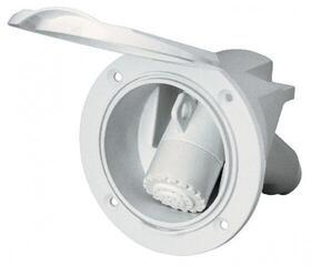 Nuova Rade Custodia con doccetta cromata, 3m tubo flessibile, con coperchio cromo