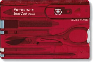 Victorinox SwissCard Red Transparent