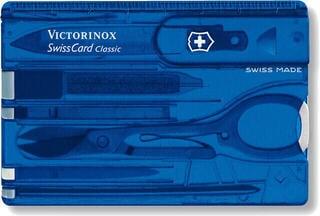 Victorinox SwissCard Blue Transparent