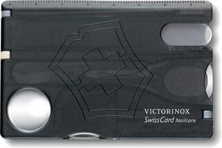 Victorinox SwissCard Nailcare Black Transparent