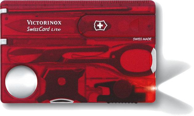 Victorinox SwissCard Lite Red Transparent
