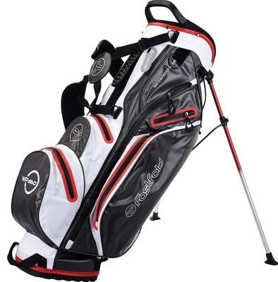 Fastfold Waterproof Grey/White/Red Stand Bag