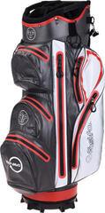 Fastfold Waterproof Cart Bag Grey/White/Red