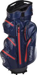 Fastfold Waterproof Cart Bag Navy/Grey/Red