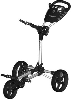 Fastfold Flat Fold Silver/Black Golf Trolley