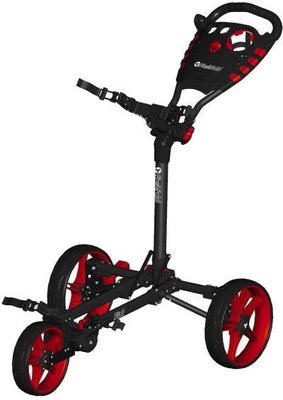 Fastfold Flat Fold Charcoal/Red Golf Trolley
