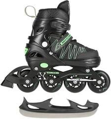 Nils Extreme Roller Skates NH11912 2in1 Green S (31-34)