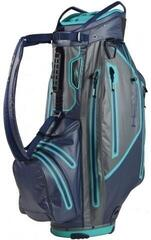 Sun Mountain H2NO Elite Cart Bag Navy/Gunmetal/Teal