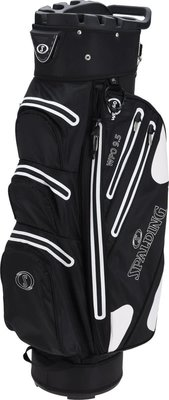 Spalding 9.5 Inch Waterproof Cart Bag Black White