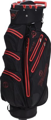Spalding 9.5 Inch Waterproof Cart Bag Black Red