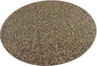 Ludic High Density Cork & Rubber LP Mat Black-Brown