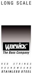 Warwick Red .085'' Single Bass String