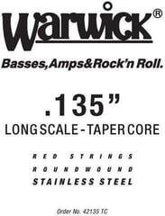 "Warwick Red String Single .135"" Tapered Core"