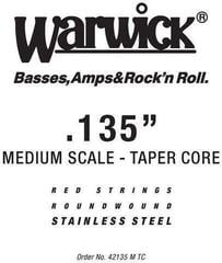 "Warwick Red String Single .135"" Tapered Medium Scale"