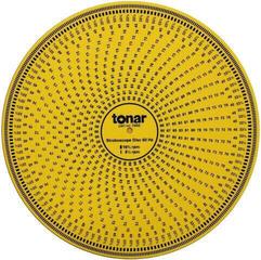 Tonar Stroboscope Disc Stroboscope disc Yellow