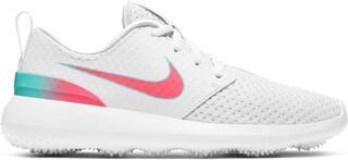 Nike Roshe G Junior Golf Shoes White/Hot Punch/Aurora Green US 3Y