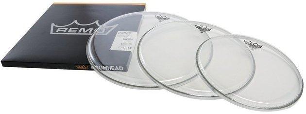 Remo Drum Head Emperor Transparent ProPack 10'' 12'' 14''