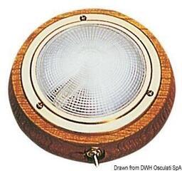 Osculati Deckenleuchte Messing poliert und Teakholz 155mm