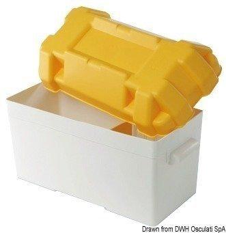 Osculati Box na batérie moplen do 100 A bielo-žltý