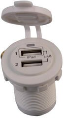 Talamex USB Socket Double 3.4A White Eyes Flush Frame