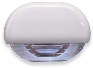 Hella Marine White LED Easy Fit Gen 2 Step Lamp 12-24V DC Series 8560, White Plastic Cap