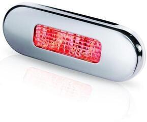 Hella Marine 9680 LED-Stufenleuchte mit Niro-Abdeckring rot