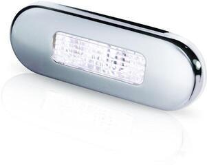 Hella Marine 9680 LED-Stufenleuchte mit Niro-Abdeckring weiß