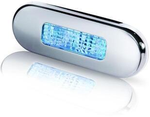 Hella Marine 9680 LED-Stufenleuchte mit Niro-Abdeckring wblau