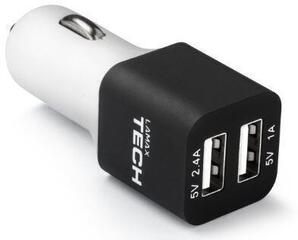 LAMAX USB Car Charger 3.4A Black&White