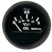 Faria Oil Pressure 0-5bar - Black