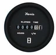 Faria Hourmeter - Black