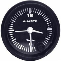 Faria Clock Quartz Analog - Black