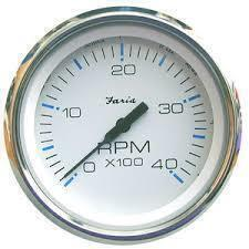 Faria Tachometer 0-4000 RPM Diesel - White