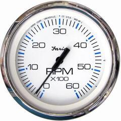 Faria Tachometer 0-6000 RPM - White